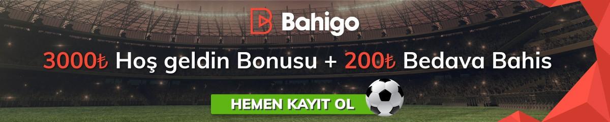 Bahigo 3000₺ kayıt bonusu.