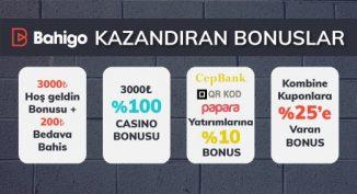 Bahigo'dan en çok kazandıran bonuslar.