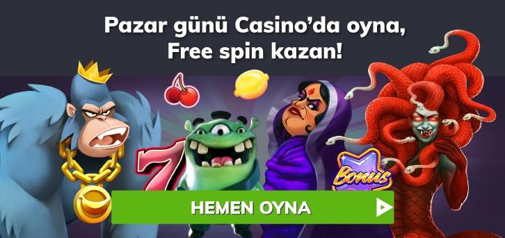 pazar free spin bonusu bahigo
